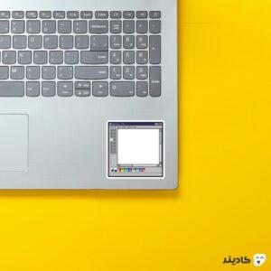 استیکر لپ تاپ بیل گیتس - محیط نقاشی ویندوز قدیمی روی لپتاپ