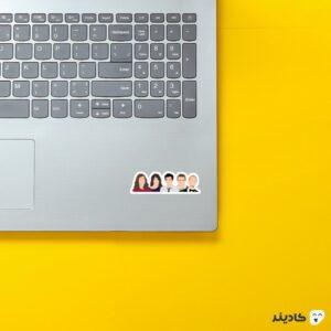 استیکر لپ تاپ آشنایی با مادر - پوستر رنگی شخصیتها روی لپتاپ