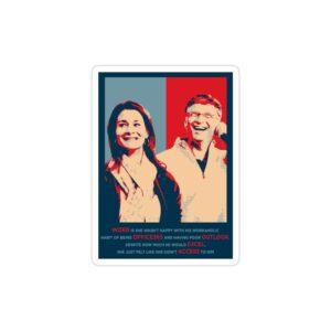 استیکر لپ تاپ بیل گیتس - بیل گیتس و همسرش