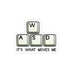 استیکر لپ تاپ کال آف دیوتی - قسمتی از کیبورد برای حرکت در بازی