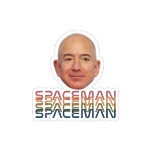 استیکر لپ تاپ جف بزوس - مرد فضایی
