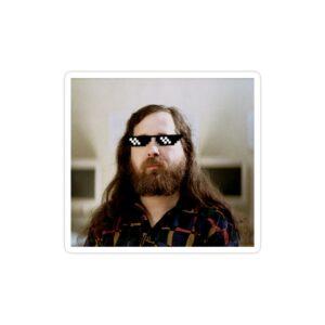 استیکر لپ تاپ ریچارد استالمن - استالمن با عینک