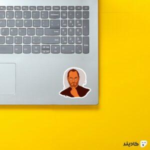 استیکر لپ تاپ استیو جابز - لوگوی جابز روی لپتاپ
