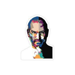 استیکر لپ تاپ استیو جابز - پوستر رنگی جابز