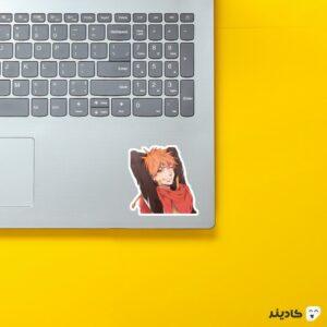 استیکر لپ تاپ black clover - لئوپولد روی لپتاپ