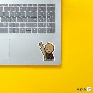 استیکر لپ تاپ black clover - لاک ولتیا روی لپتاپ