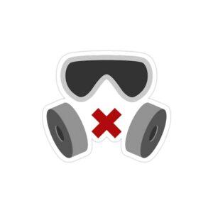 استیکر لپ تاپ رینبو سیکس: سیج - ماسک اپراتور میوت