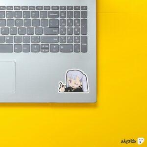 استیکر لپ تاپ black clover - نئول چشمک زن روی لپتاپ