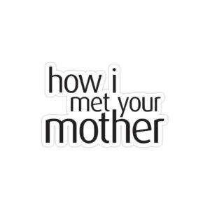 استیکر لپ تاپ آشنایی با مادر - لوگوی اسم سریال