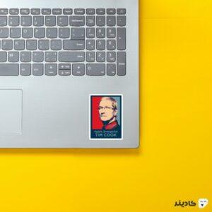 استیکر لپ تاپ تیم کوک - پوستر تیم کوک روی لپتاپ