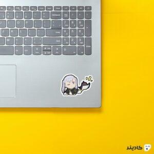 استیکر لپ تاپ black clover - نوئل و نرو فانتزی روی لپتاپ