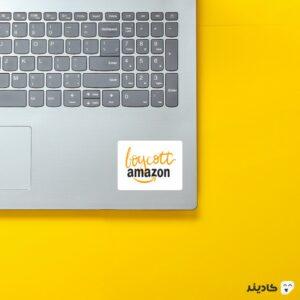 استیکر لپ تاپ جف بزوس - لوگوی امازون روی لپتاپ