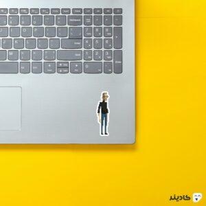 استیکر لپ تاپ استیو جابز - پوستر فانتزی جابز روی لپتاپ
