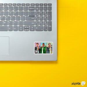 استیکر لپ تاپ جی تی ای - شخصیتهای GTA V روی لپتاپ