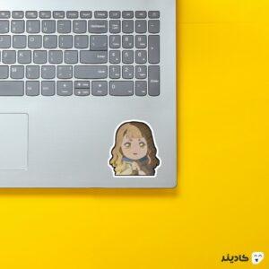 استیکر لپ تاپ black clover - میموسا روی لپتاپ