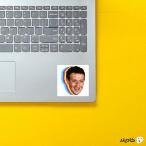 استیکر لپ تاپ مارک زاکربرگ - صورت زاکربرگ روی لپتاپ