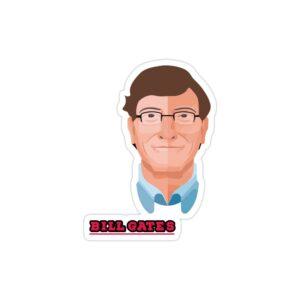 استیکر لپ تاپ بیل گیتس - نقاشی بیل گیتس