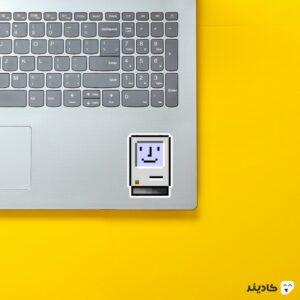 استیکر لپ تاپ استیو جابز - کامپیوتر اپل روی لپتاپ