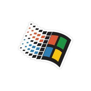 استیکر لپ تاپ بیل گیتس - لوگوی قدیمی ویندوز
