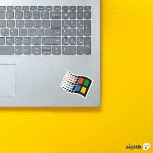 استیکر لپ تاپ بیل گیتس - لوگوی قدیمی ویندوز روی لپتاپ