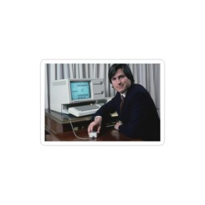 استیکر لپ تاپ استیو جابز - پوستر جابز جوان