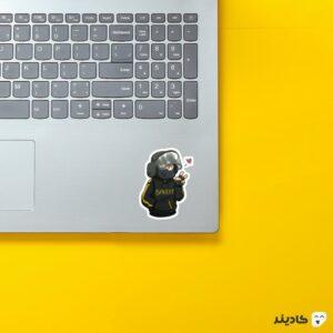 استیکر لپ تاپ رینبو سیکس: سیج - پوستر فانتزی اپراتور بندیت روی لپتاپ