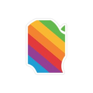 استیکر لپ تاپ تیم کوک - لوگوی رنگین کمانی اپل
