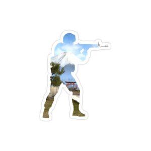 استیکر لپ تاپ کانتر استرایک - پوستر سرباز جنگی شفاف