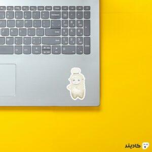 استیکر لپ تاپ black clover - گوسفند انیمه روی لپتاپ
