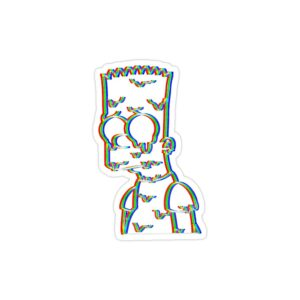 استیکر لپ تاپ مجموعه سیمپسونها - تریپی بارت