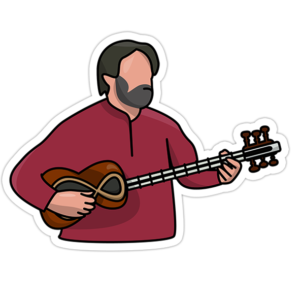 استیکر موسیقی سنتی ایرانی - حسین علیزاده
