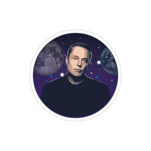 استیکر لپ تاپ استیکر ایلان ماسک - پوستر کهکشانی الون ماسک