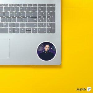 استیکر لپ تاپ استیکر ایلان ماسک - پوستر کهکشانی الون ماسک روی لپتاپ