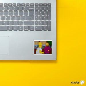 استیکر لپ تاپ مجموعه سیمپسونها - شخصیت های سریال روی لپتاپ