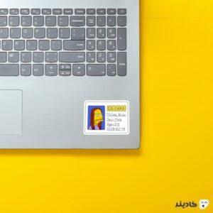 استیکر لپ تاپ مجموعه سیمپسونها - کارت شناسایی روی لپتاپ