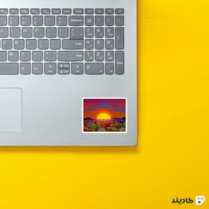 استیکر لپ تاپ مجموعه سیمپسونها - پوستر شهر روی لپتاپ