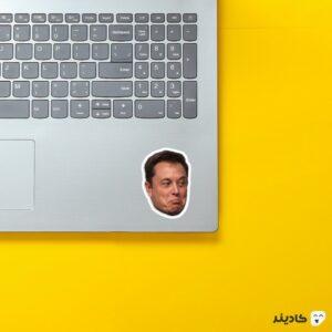 استیکر لپ تاپ استیکر ایلان ماسک - میم ماسک روی لپتاپ