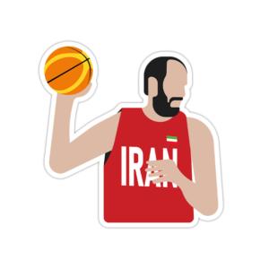 استیکر لپ تاپ تیم ملی بسکتبال ایران – حامد حدادی