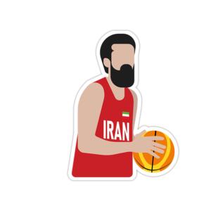 استیکر لپ تاپ تیم ملی بسکتبال ایران – محمد جمشیدی