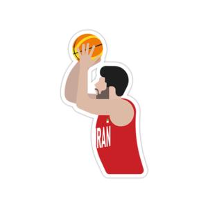 استیکر لپ تاپ تیم ملی بسکتبال ایران – بهنام یخچالی