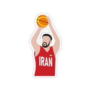 استیکر لپ تاپ تیم ملی بسکتبال ایران – محمد حسنزاده