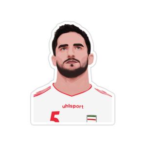 استیکر لپ تاپ تیم ملی ایران - میلاد محمدی