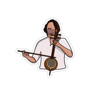 استیکر موسیقی سنتی ایرانی - سهراب پورناظری تنبور