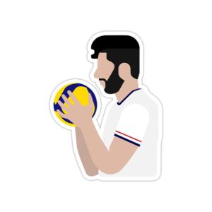 استیکر لپ تاپ تیم ملی والیبال - میلاد عبادیپور