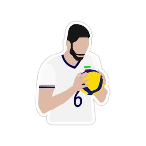 استیکر لپ تاپ تیم ملی والیبال - سید محمد موسوی