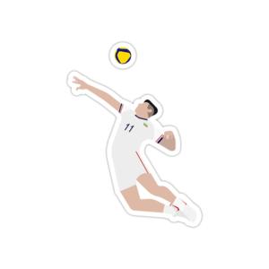 استیکر لپ تاپ تیم ملی والیبال - صابر کاظمی