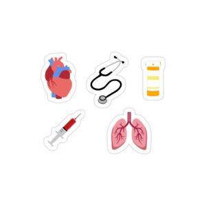 استیکر لپ تاپ استیکر لپ تاپ پزشکی - پک پزشکی