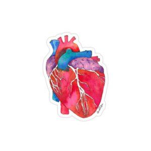استیکر لپ تاپ استیکر لپ تاپ پزشکی - قلب رنگی