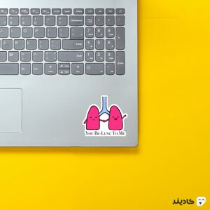 استیکر لپ تاپ استیکر لپ تاپ پزشکی - ششها روی لپتاپ